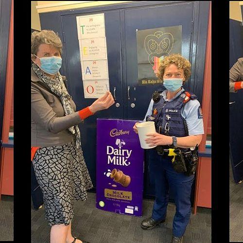 The Cadbury 10kg Block of Chocolate Raffle Drawn Under Police Supervision