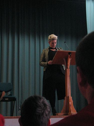 Anna Bolland speaks at the Pathway Assembly