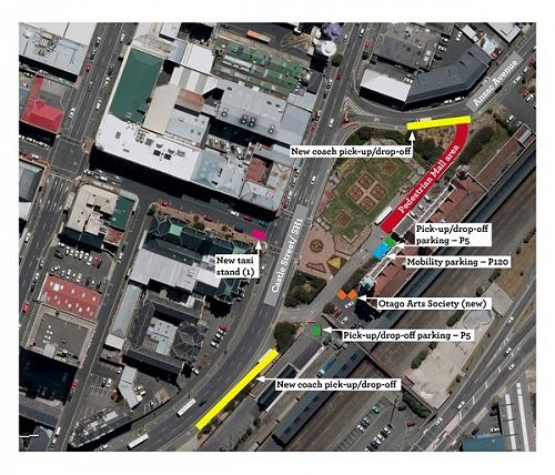 Dunedin Railway Station Proposed Pedestrian Mall