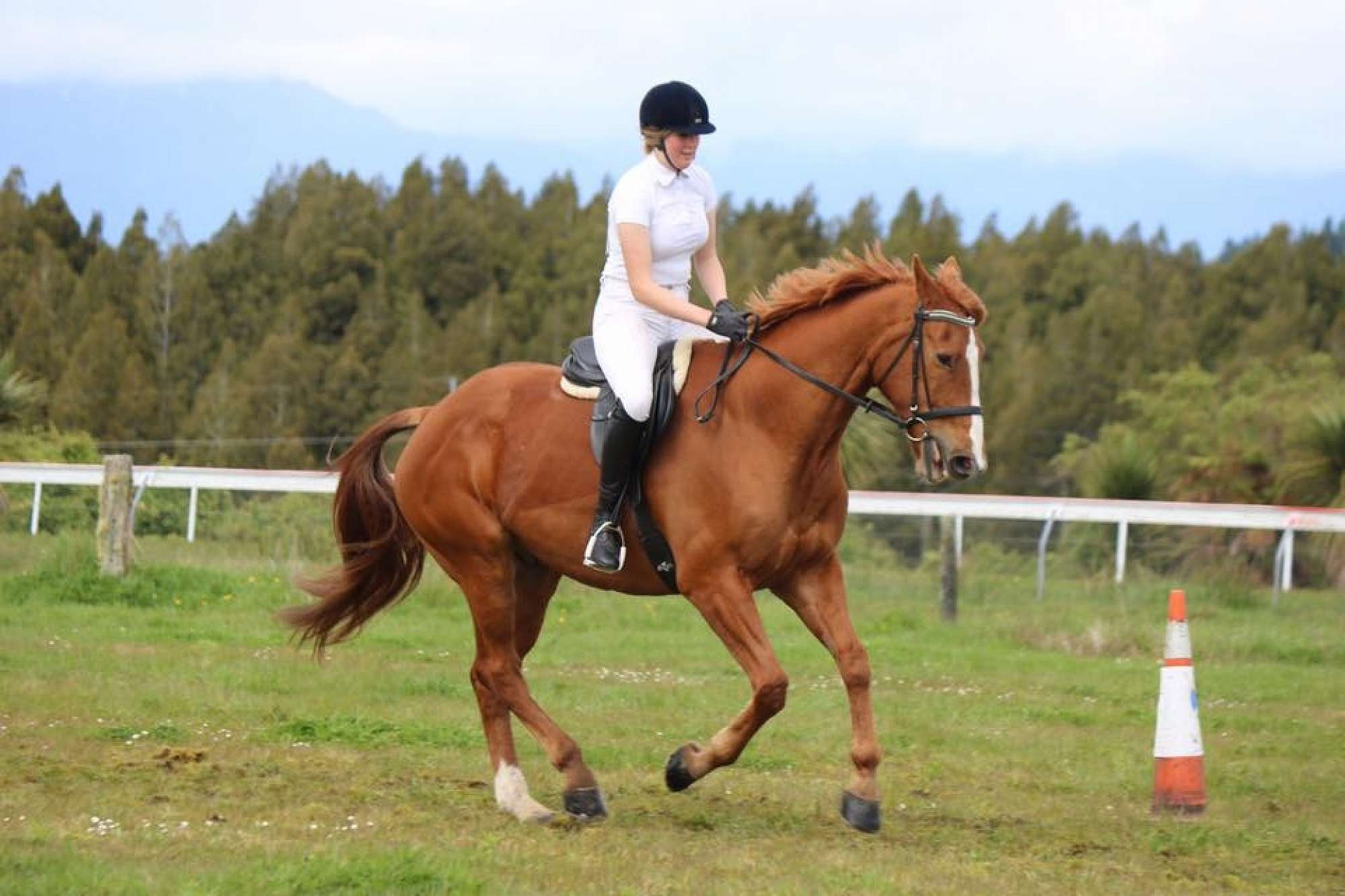 Meghan Scott of Hokitika riding Ziggy Stardust