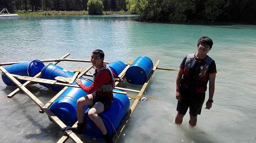 An interesting raft design