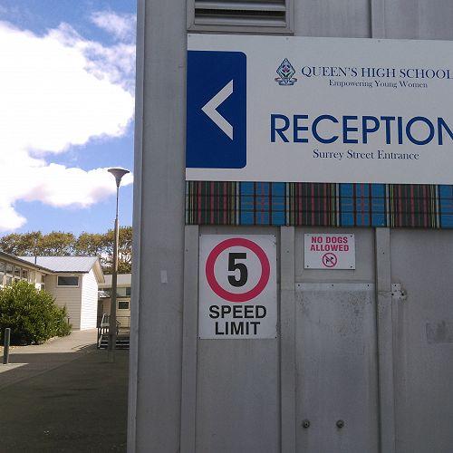 Speed limit around the school
