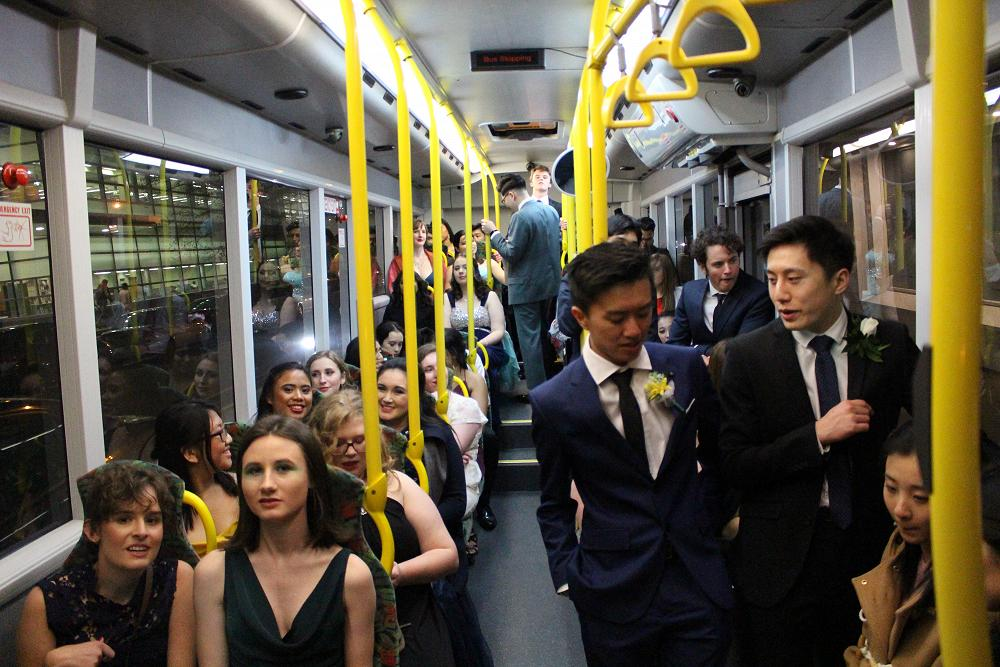 On the bus to the Ball, 17 August 2019