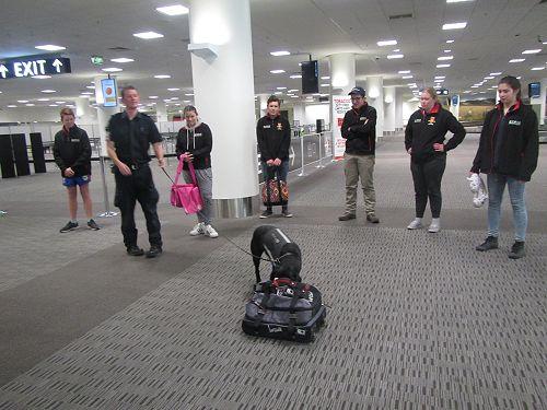 PIA students visit the Customs Dept at Christchurc