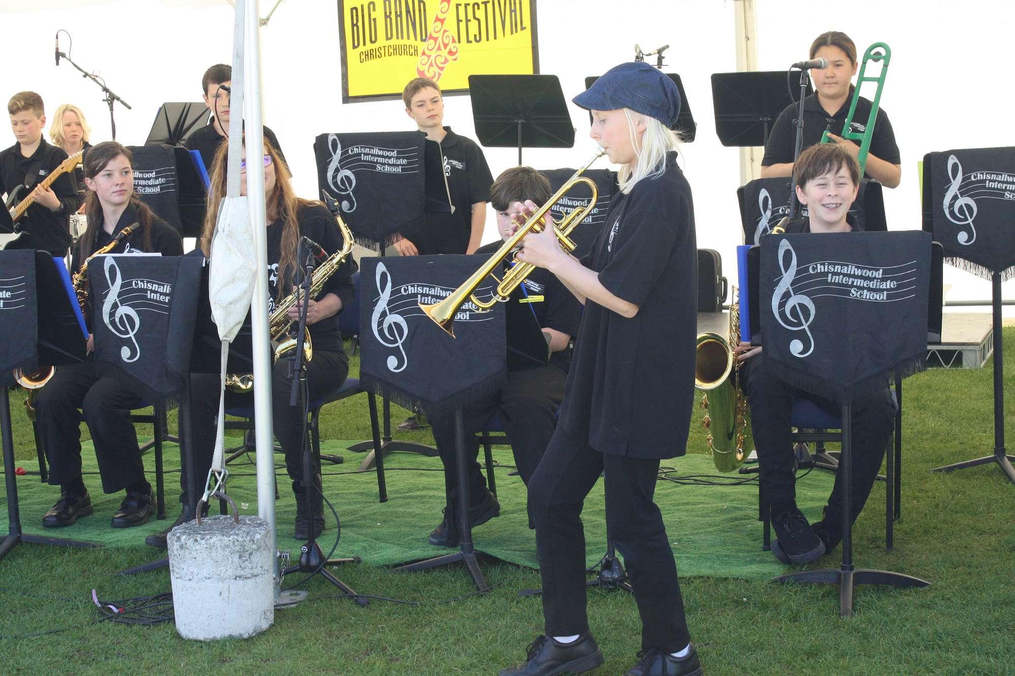 Lena takes a trumpet solo