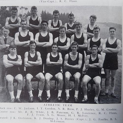 1958 Athletics Team. George Lawrence Row 2