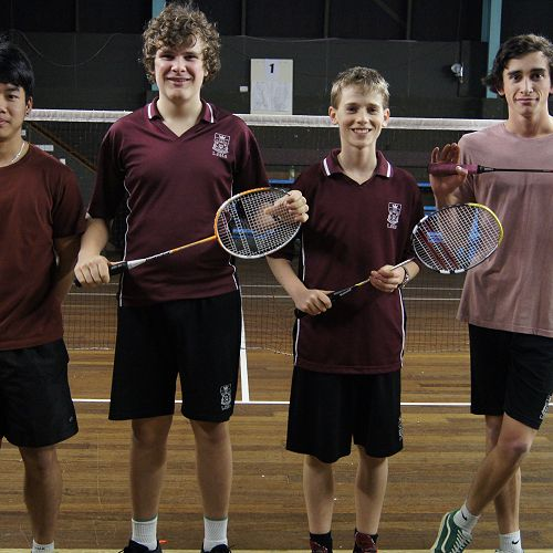Dunedin's Champion Badminton Team
