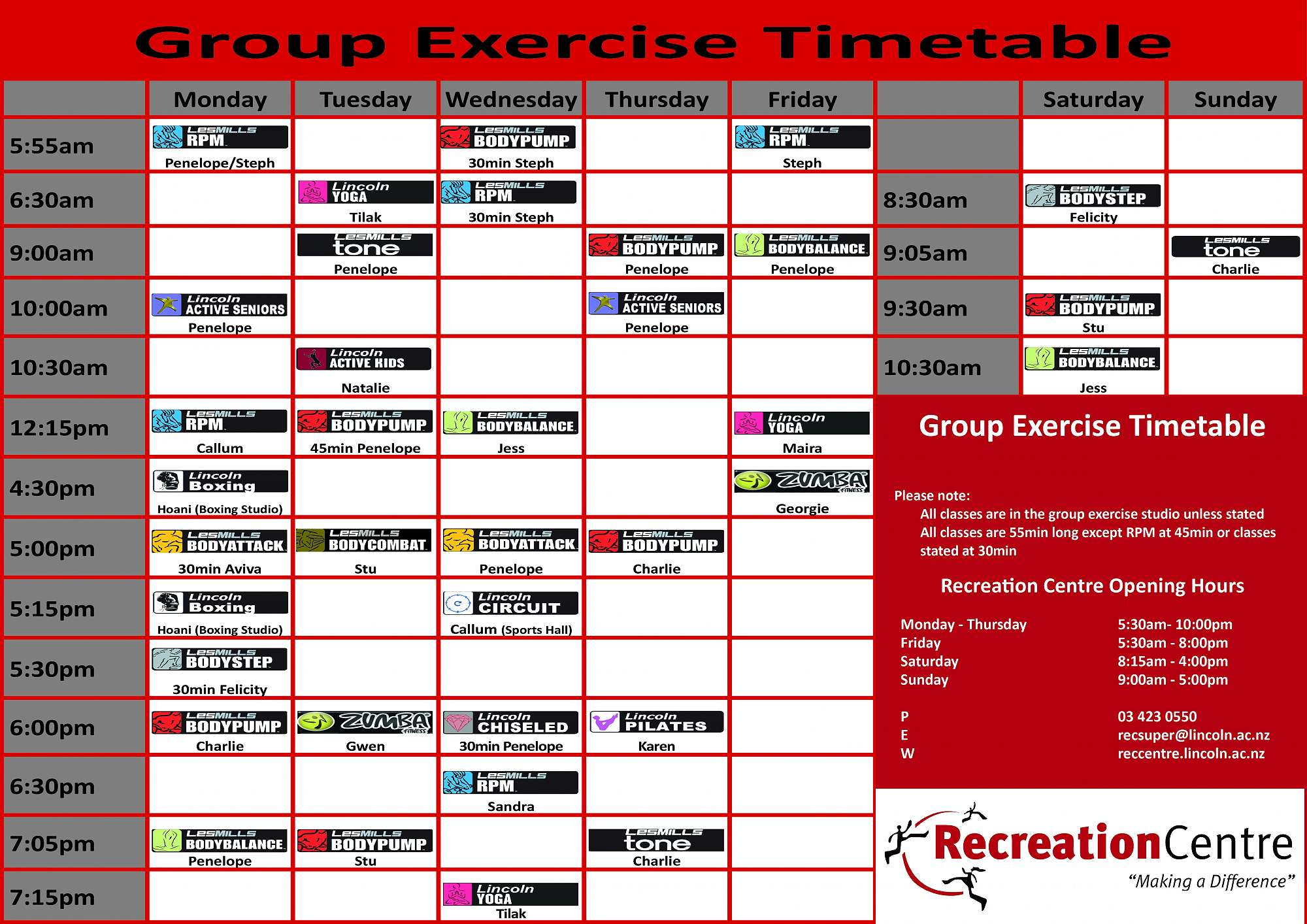 Group Exercise Homepage January Indoor Workout Full Body Circuit Timed September 2018 Time Table