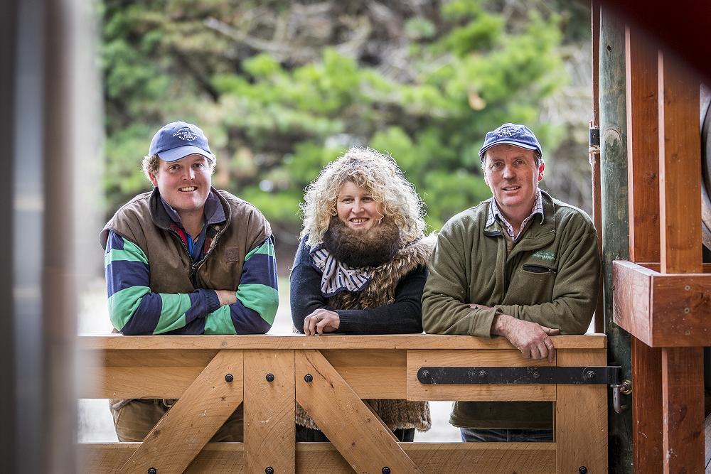 Lachie, Susie and John Elliot at Lammermoor Distillery