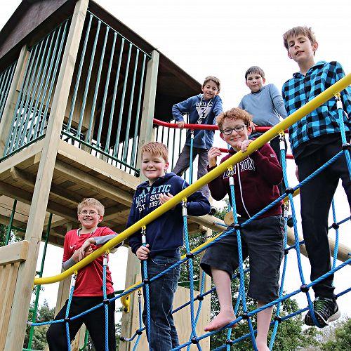 Group of children enjoying the playground