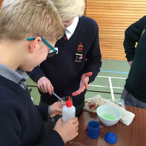 Max and Mikey extracting DNA.