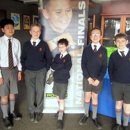The John McGlashan Team: Jin, Caleb, Martin, Noah and Max