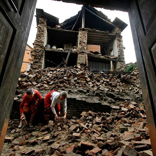 Destruction in Nepal after Earthquake