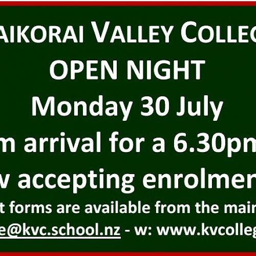 KVC Open Night