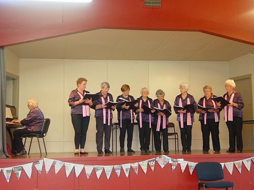 Choir singing at Eisteddfod Competition Day