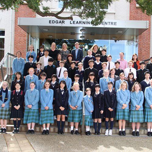 Ichikawa High School Group with their St Hildas and John McGlashan buddies and teachers