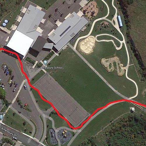 Amesbury School Level 2 boundary.