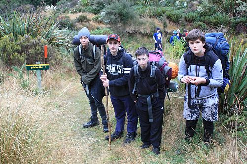 Year 10 group ready to tackle the Devil's Staircas