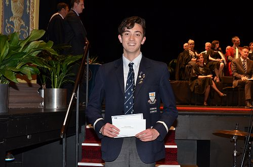 Callum Mulligan recipient of the Mason Brothers Sc