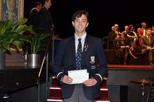 Callum Mulligan recipient of the Mason Brothers Sc