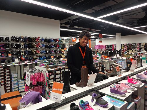 Ayden at Number One Shoes