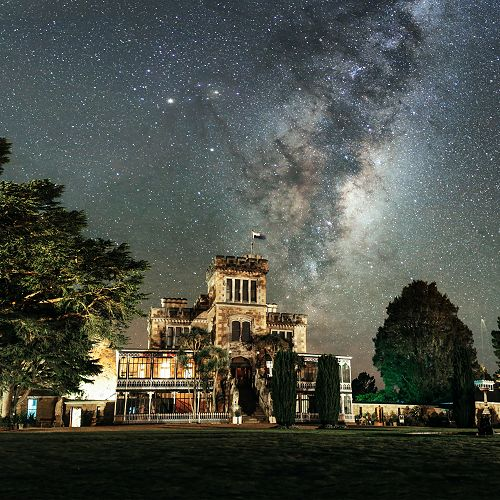 The Milky Way and Larnach Castle