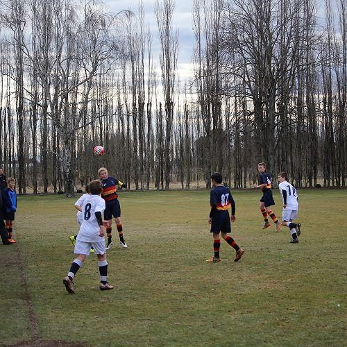 Waihi Football match. A good game that McGlashan were very dominant in. Final score 10-1 to McGlashan.