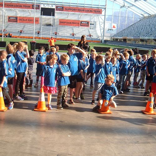 Fun at the Forsyth Barr Stadium for the Juniors