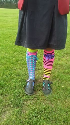 GHS students wear mis-matched socks at school on W