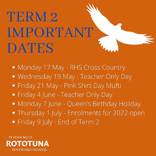 Term 2 Important Dates