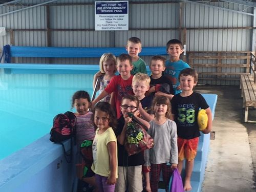 Room 1 are all ready to go swimming.