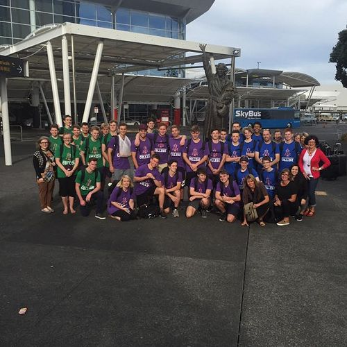 All the group in Auckland.