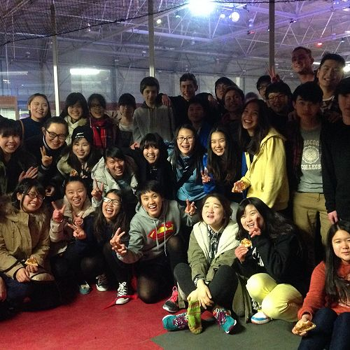 Ice skating - a first for a lot of students from overseas!