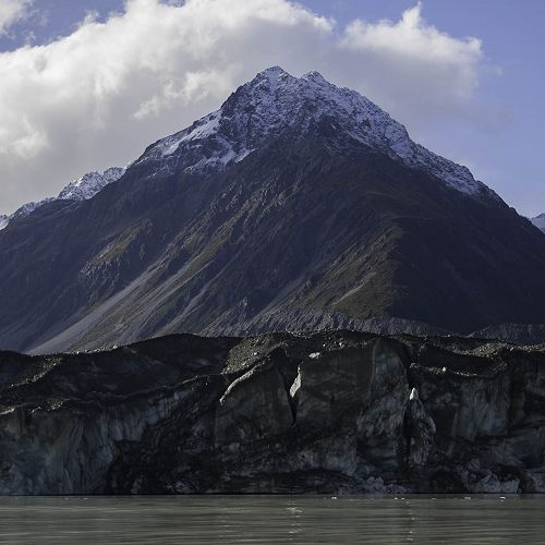 The rapidly melting terminal face of New Zealand's longest glacier.