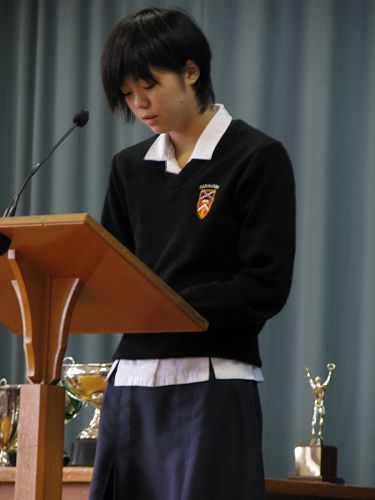 Aoi's farewell from GHS