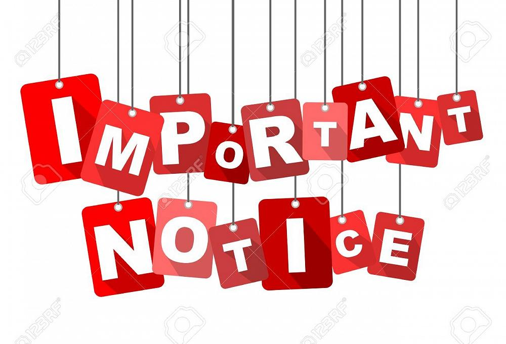 Important reminder notice: School closes 1:00 pm this