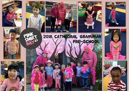 Look at all our tamariki dressed in Ma Whero to support Pink Shirt Day.