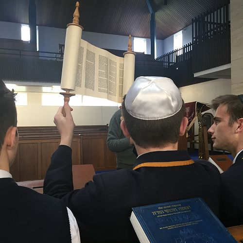 Learning about synagogue protocol