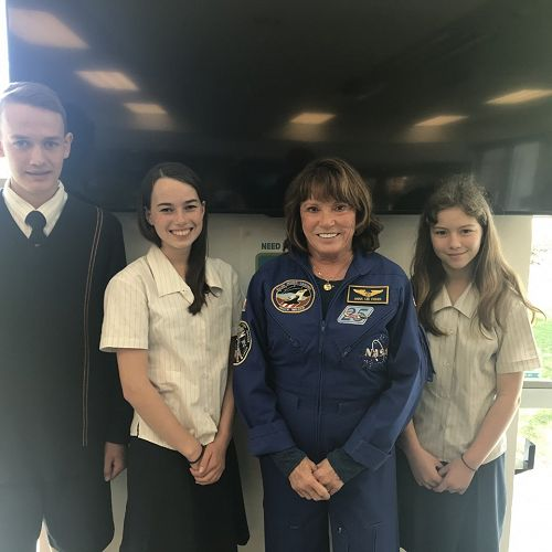 Dominic Hasselberg (9BU), Anna Boulton (9EA), Anna Fischer (NASA) and Lara Stevens (9HY)