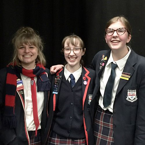 Winners of the CGHS Senior Speech Competition
