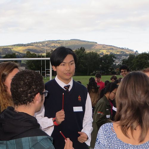 International students were encouraged to bring home stay brothers and sisters or a kiwi friend.