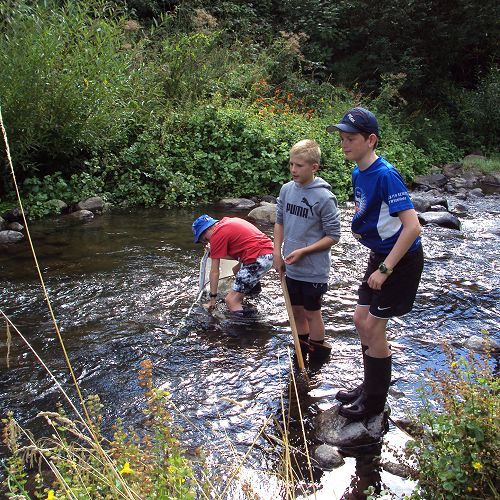Water flow testing at Leith Stream
