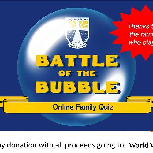 Battle of Bubble thank you