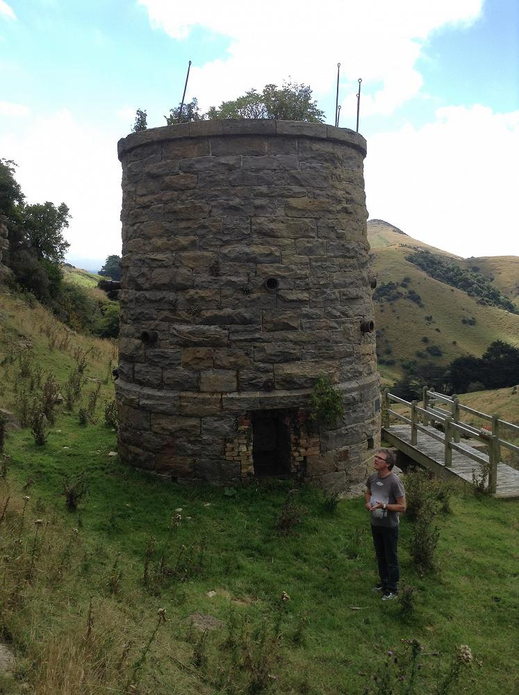 Mr Avis explains the history and function of the Lime Kilns. Otago Peninsula. Year 9 Science Field Trip.