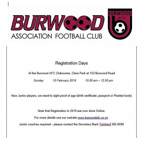 Burwood Soccer Club Registration for Juniors
