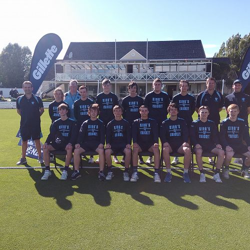 Team photo on  the ' Bert ' NZ Secondary School 1st XI Gillette Cup at Lincoln