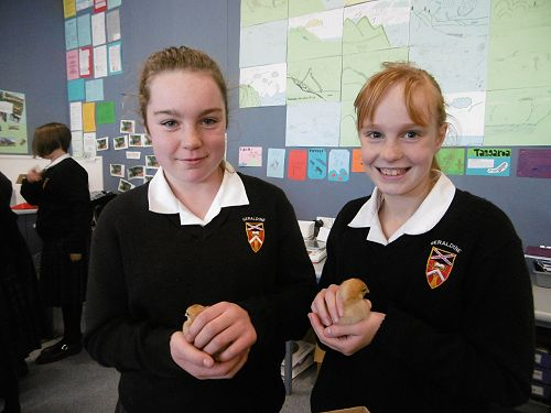 Year 7 students Erin Harland-Christie and Shianne