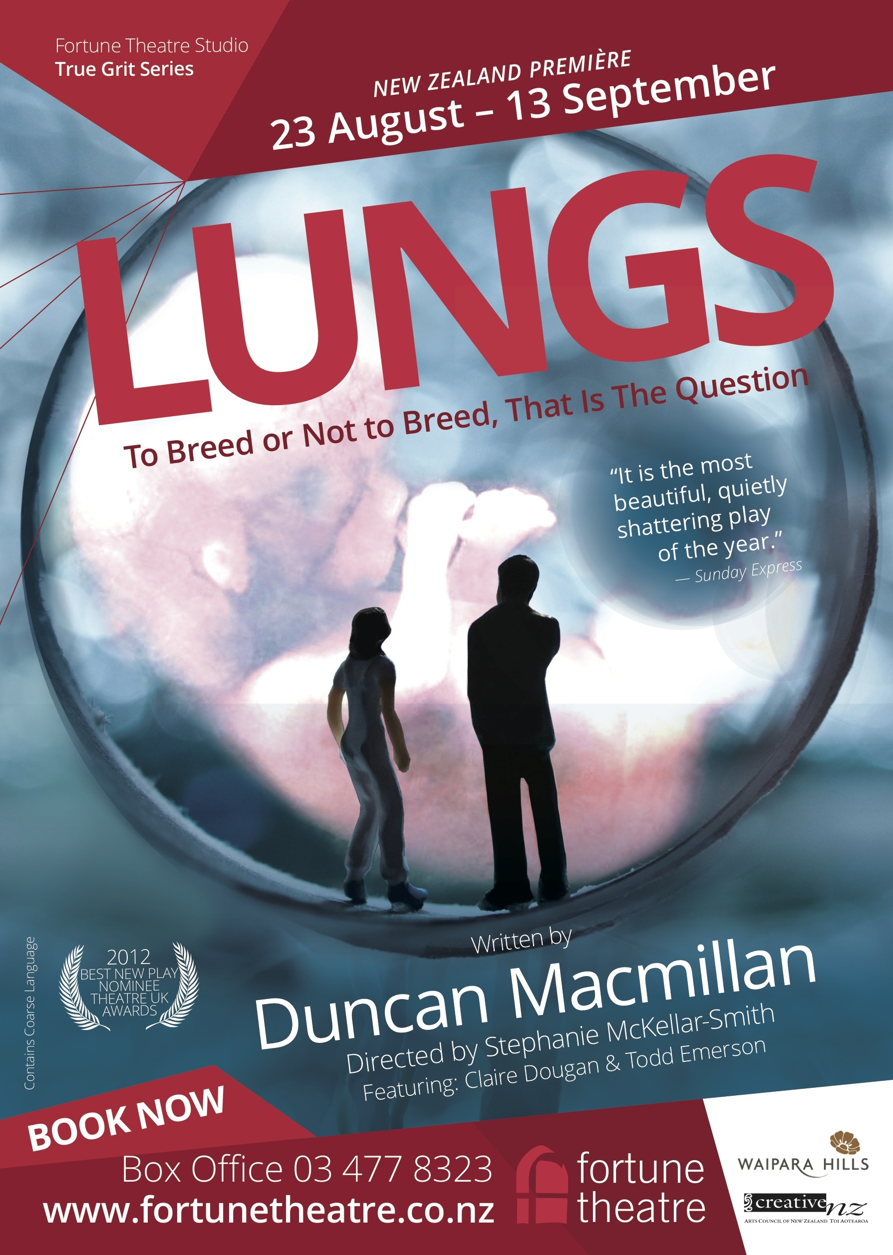 Lungs - at The Fortune Theatre until 13 September