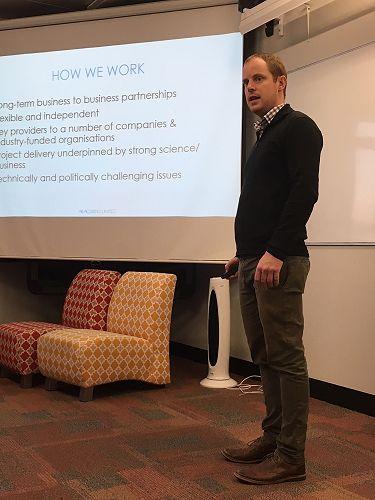 Luke Proctor presenting AbacusBio.