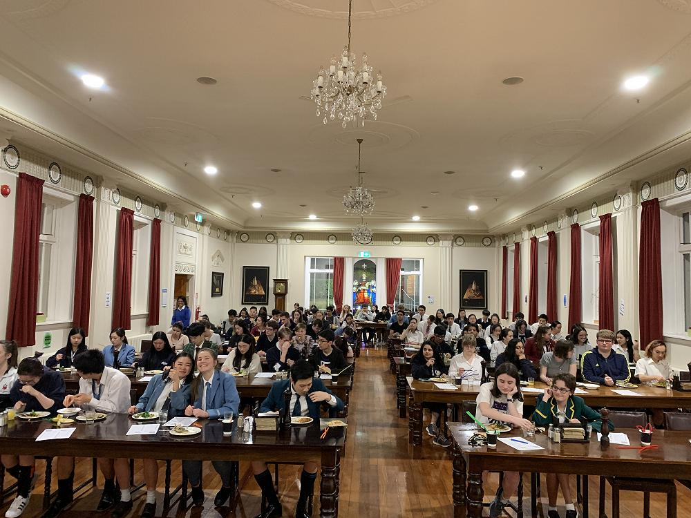 The Norris Dining Hall was transformed into a clas